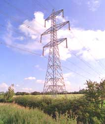 phot of double-circuit pylon