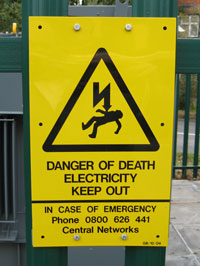 photo of warning sign