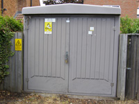 photo of cabinet type substation